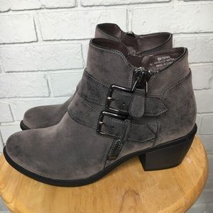Nicole Ankle Strap ZIP Up Booties